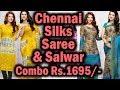 Chennai Silks Saree and Salwar Material Combo Collection | Chennai Silks Festival Collections