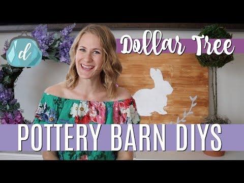 *NEW* DOLLAR TREE POTTERY BARN DECOR! 💐 Farmhouse Sign DIY, Topiary & Spring Wreath
