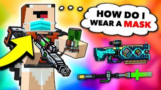 Noob Uses VIRUS Weapons in Pixel Gun 3D! (New Update)