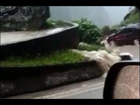 Dilúvio na serra de Santa Catarina Brasil em 11-01-2019