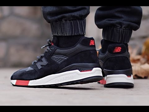 New Balance 998 - Black / Red (Re-issue