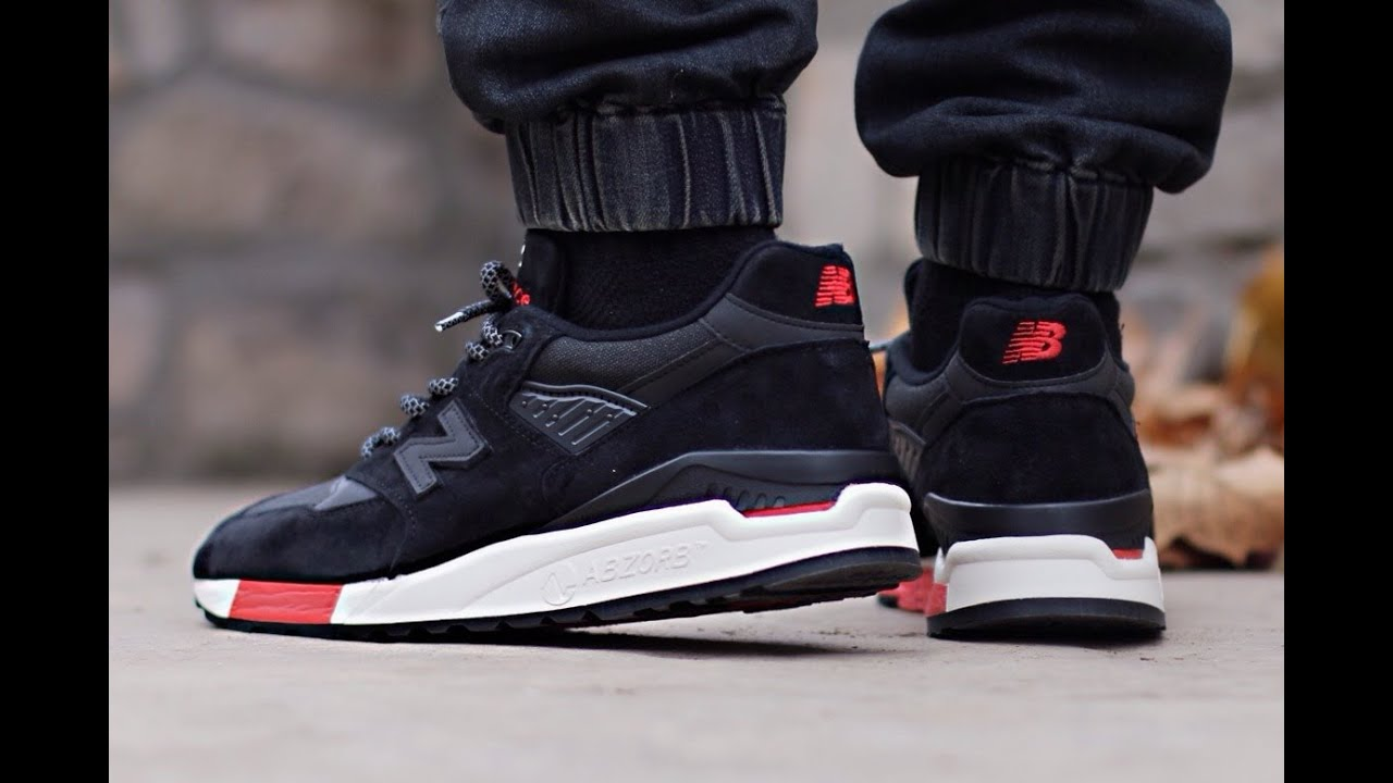 best website dfe9e 7b4a6 New Balance 998 - Black / Red (Re-issue Global Exclusive)