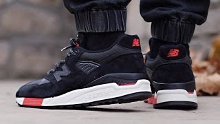 New Balance 998 - Black / Red (Re-issue Global Exclusive)