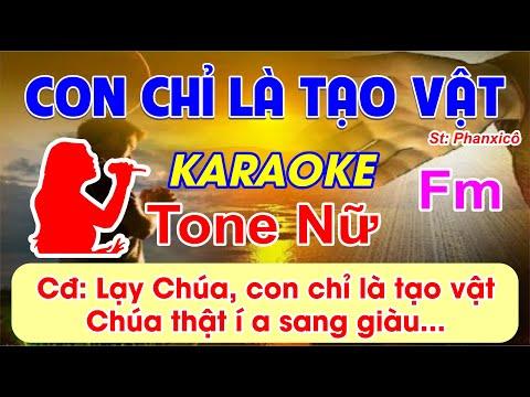 Con Chỉ Là Tạo Vật - Karaoke (tone Nữ) 2