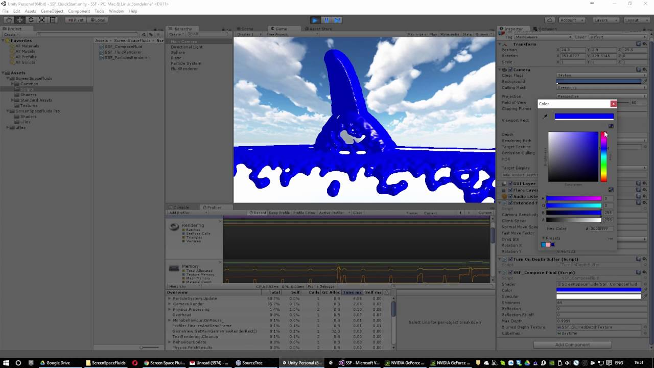 uFlex - NVidia FLEX for Unity3D - Unified Visual FX [RELEASED