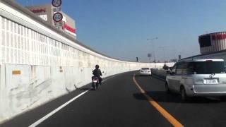 阪神高速を疾走する原チャリ