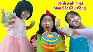 面白い子供対プー 誕生日のケーキの色! 子供のためのビデオ保育園#606