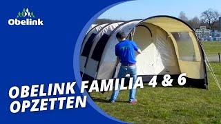 Obelink Familia 4 & 6 - Opbouwinstructie - Welke tunneltent heeft een vast grondzeil? | Obelink