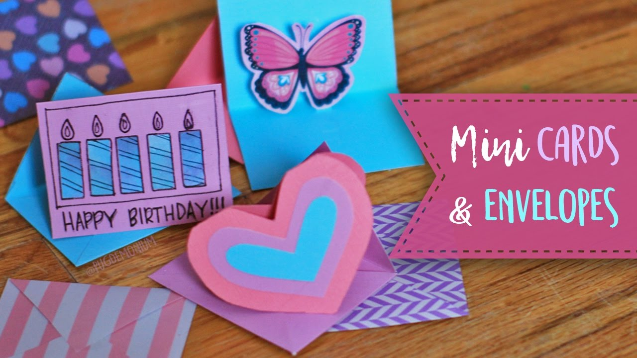 How to make mini envelopes and cards valentines youtube how to make mini envelopes and cards valentines kristyandbryce Gallery