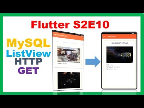 Flutter MySQL → Flutter PHP MySQL – Fill ListView with Images and