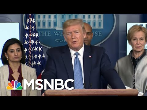 Trump Credits 'Very Fair' Media And Jeff Bezos' WH Coordination On Coronavirus | MSNBC
