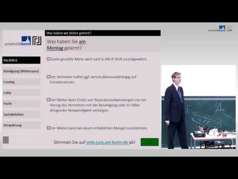 Leasing, Leihe und Pacht ☆ Schuldrecht Vorlesung 26