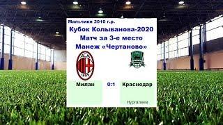 КК 2020 Матч за 3 е место Гол Краснодар Краснодар Россия Милан Милан Италия