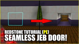 Minecraft PE Redstone: Seamless Jeb Door!