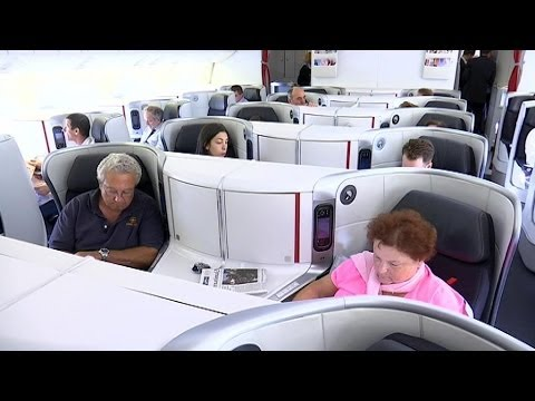 Air france rel ve le niveau en classe affaires 25 06 for Interieur d avion air france