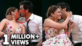 Ranbir Kapoor GRABS Alia Bhatt For A Kiss  Zee Cine Awards 2019