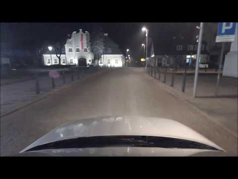 Night driving video (25 minutes, 45 kilometers) with various types of music