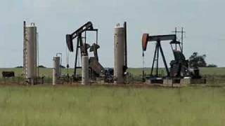 Two Oil Wells With Pumpjacks Bryan Texas 2008