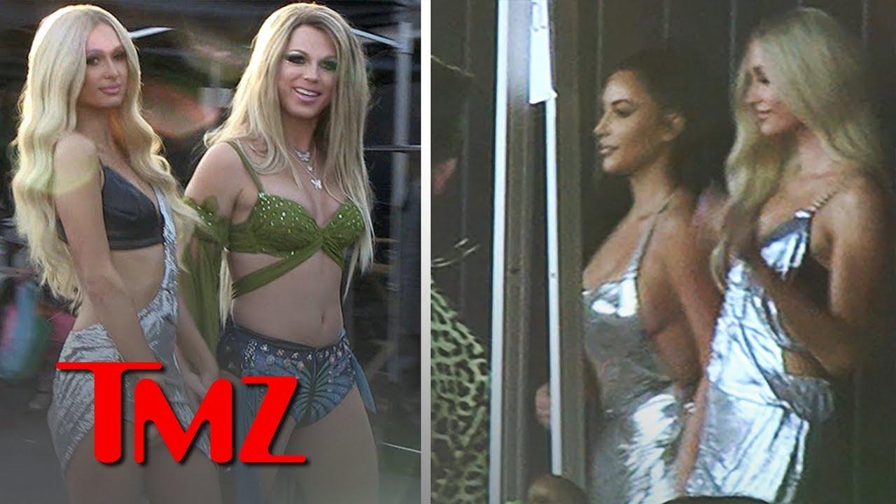 Kim Kardashian On Set for Paris Hilton's New Music Vid, 'Best Friend's Ass' | TM