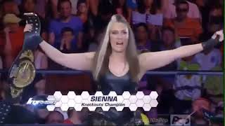 720p IMPACT Sienna vs Jade vs Madison Rayne vs Marti Bell vs Allie knockouts Title Match 8.25.16