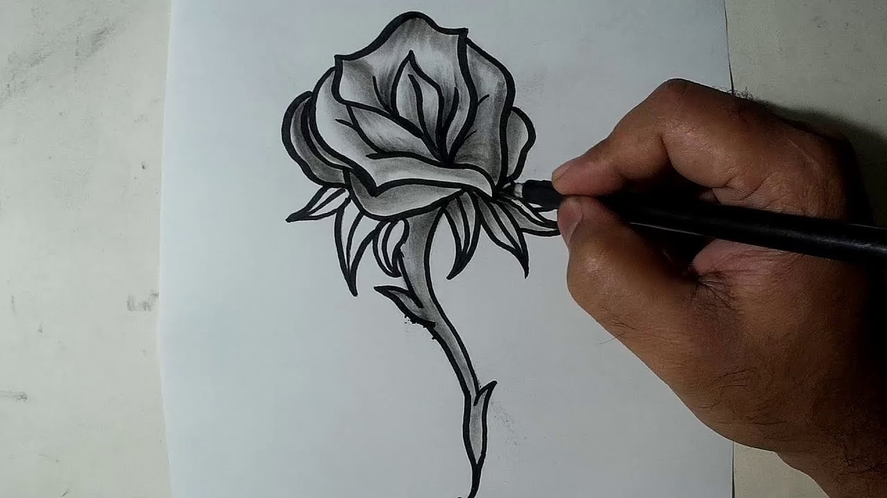 It's just a graphic of Terrible Charcoal Rose Drawing