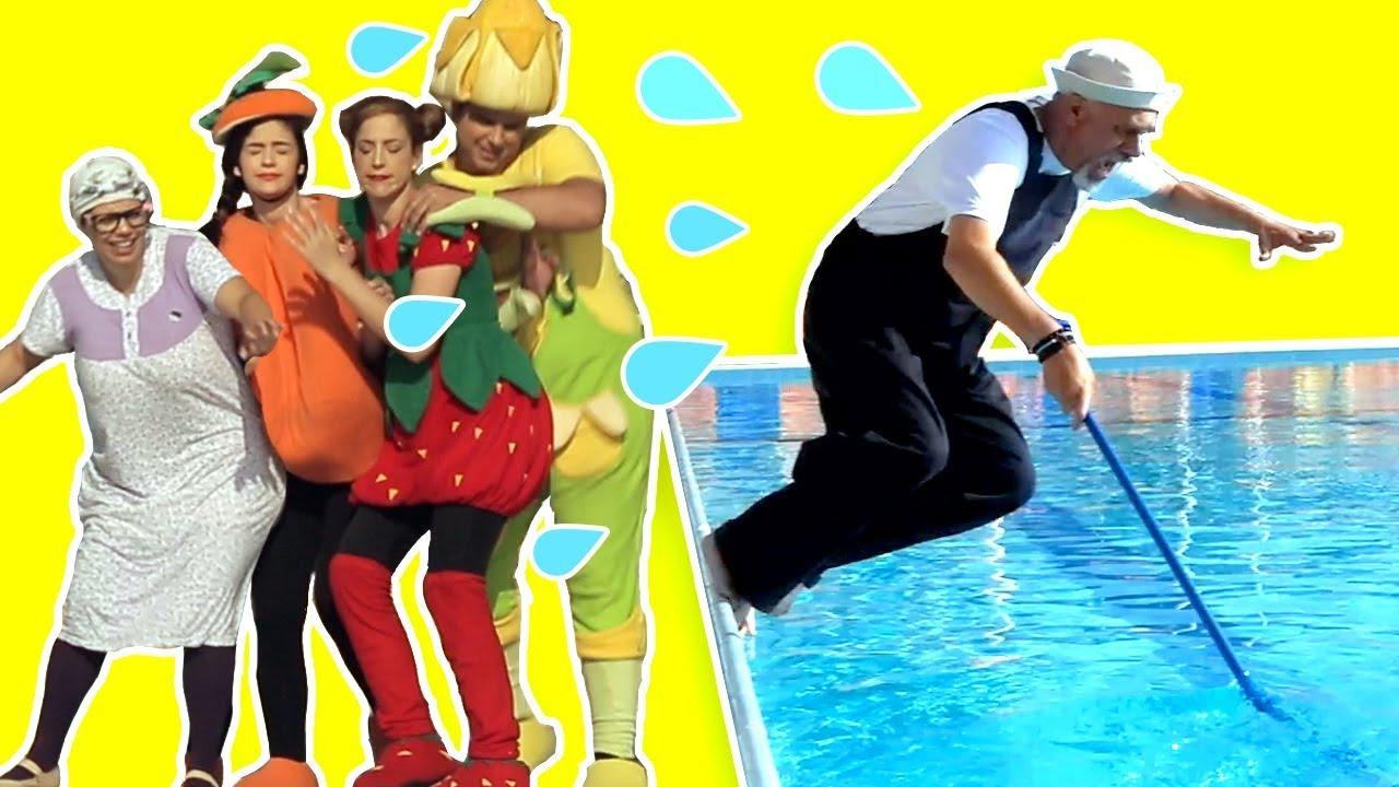 فوزي موزي وتوتي –  بركة السباحة  –  swimming pool