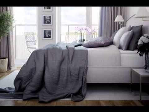 Grey and purple bedroom decorating ideas - YouTube