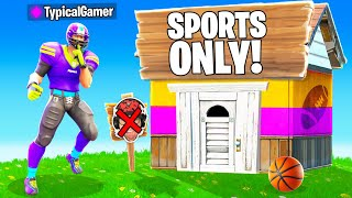 I Went UNDERCOVER in a SPORTS ONLY Tournament! (Fortnite)