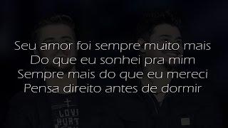 Zé Neto & Cristiano - Sonha Comigo (Com Letra) - Cover
