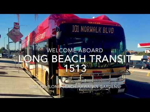 Long Beach Transit 2015 New Flyer XN60 #1513 | Coin Lloyd's Transit Hub