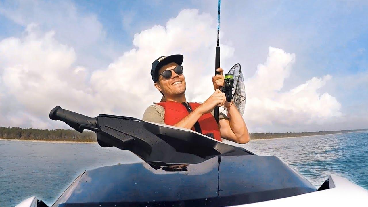 Fishing on 2018 Sea Doo GTX 155 Jet Ski