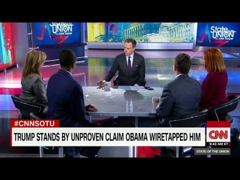 Trump triples down on wiretap charge