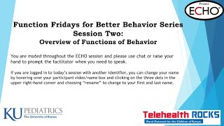 FunctionFriday Session2 Jan24 NoCase- Overview of Functions of Behavior