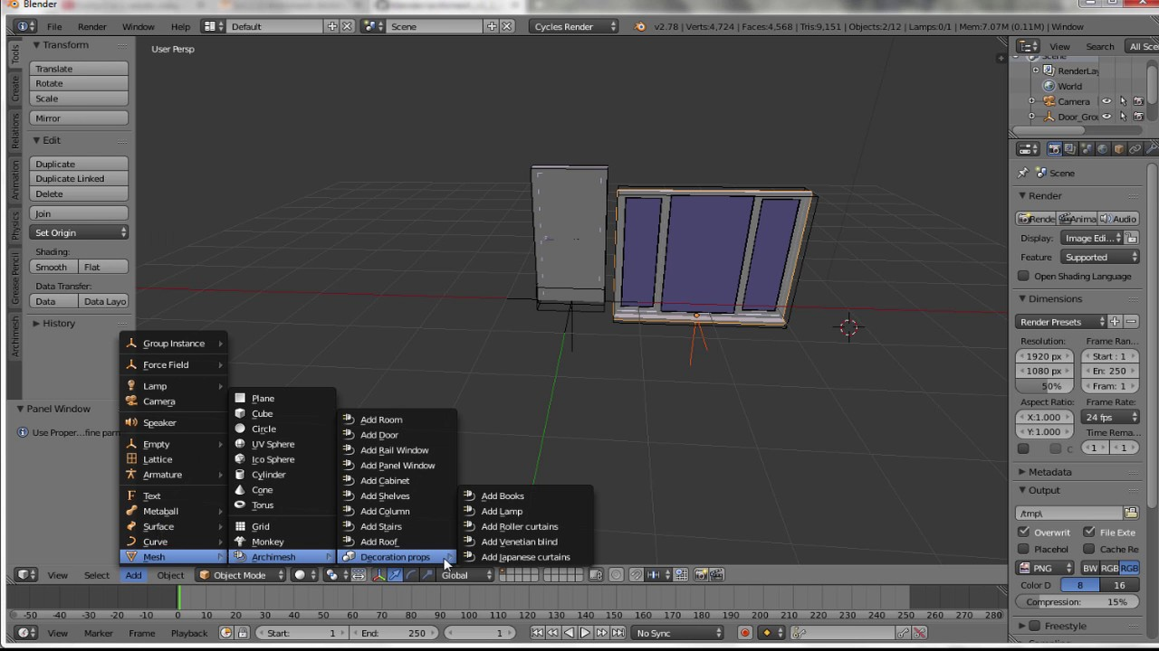 Archimesh Free Architecture Addon For Blender (Installation guide)
