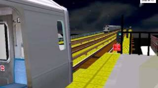 Exclusive! R153 Y Train Arriving And Leaving Fordham Rd (OpenBve)