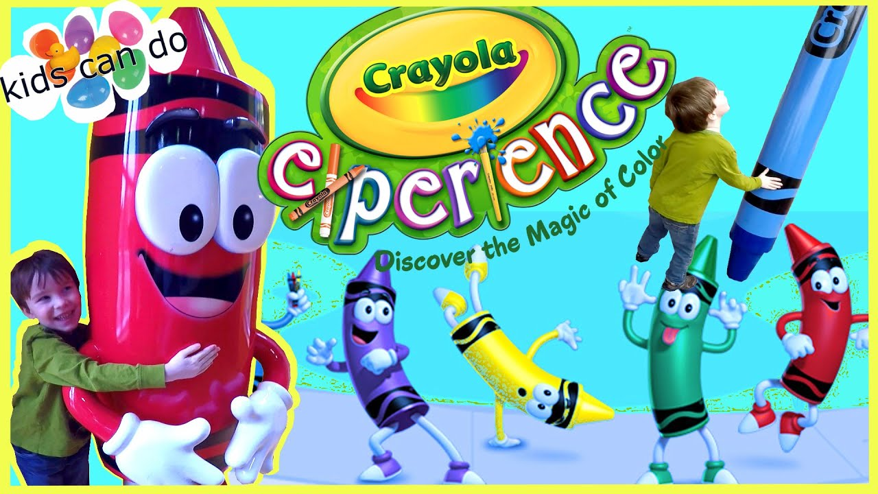 CRAYOLA EXPERIENCE! Indoor Play Center Kids Activities CRAYON ...