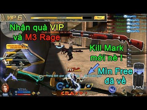 Truy kích ✔-Nhận quà các VIP, lấy M3 Rage, chế tạo Mìn Free, Kill Mark mới của Búa sét nè !