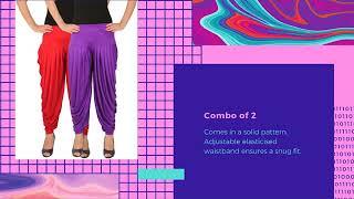 Leap of Faith Women's Lycra Dhoti Pants Pack of 2