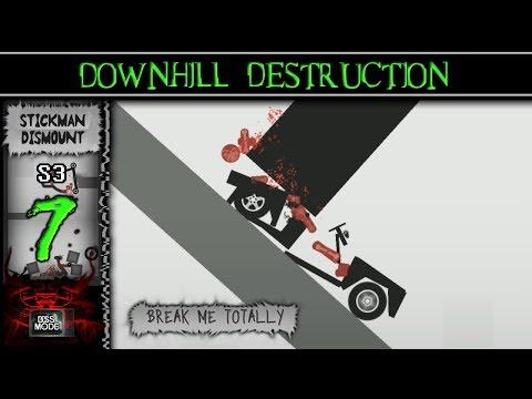 """Downhill Destruction"" ► [S3 Ep07] Stickman Dismount - Break Me Totally On Android"