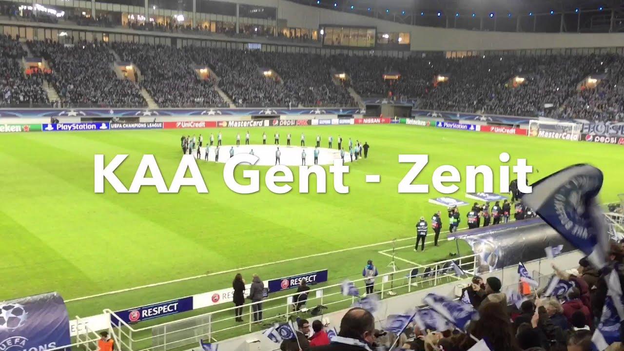 KAA Gent - Zenit (Champions League) 09/12/2015 - YouTube