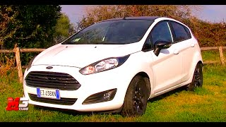 NEW FORD FIESTA BLACK AND WHITE EDITION 2016 - FIRST TEST DRIVE - ENG ITA SUB