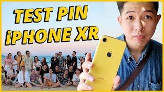 VLOG TEST PIN iPHONE XR XEM CÓ  TRÂU NHƯ QUẢNG CÁO - ĐI TRỐN MỪNG SCHANNEL 2 TRIỆU SUB!!!