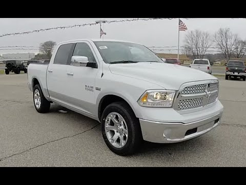 2016 Dodge Trucks >> 2016 Ram 1500 Laramie Crew Cab 4x4 White Loaded Truck 18266
