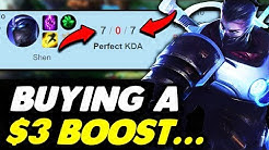 I BOUGHT A $3 BOOST AND THEN COACHED THE BOOSTER!! (Trolling Boosters)  - League of Legends