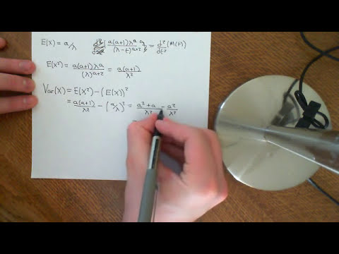 Mean and Variance of Gamma Distribution Part 3