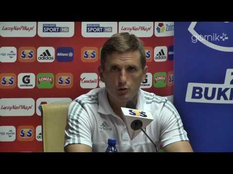 Konferencja: Górnik Zabrze 0:0 Drutex-Bytovia Bytów (17.09.2016)