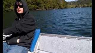 Blue Lakes, CA 2012 Trout Derby Winner Steve P. catching a trout trolling