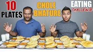 10 PLATES CHOLE BHATURE EATING COMPETITION | Chole Bhature Challenge | Food Challenge
