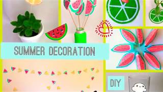 🍉Summer DIY room decor 2018🍉. DIY fruits craft🍉