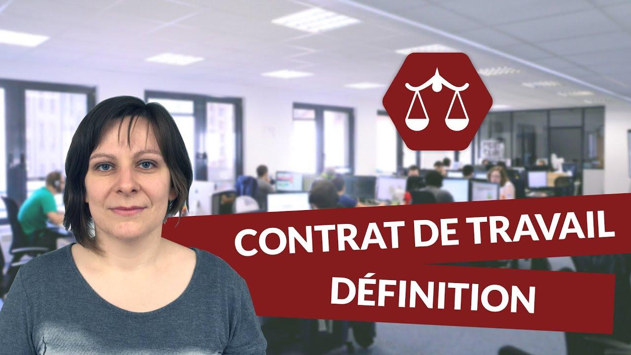 Le contrat de travail : définition   STMG Droit   digiSchool   YouTube